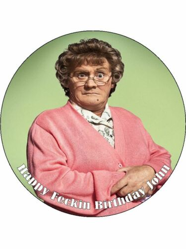 """7.5/"""" Mrs Browns Boys Edible PRE CUT ICING Cake Topper"""