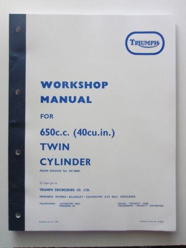 TRIUMPH TR6 TR6C T120 650cc TIGER BONNEVILLE REPAIR WORKSHOP MANUAL BOOK 1971-72