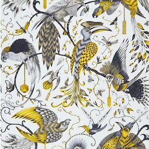 Emma-J-Shipley-Animalia-Audubon-Papier-Peint-Dore-W0099-02-Exotique-Oiseaux