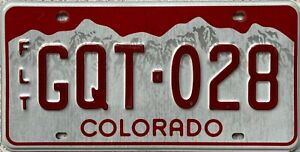 Colorado-Fleet-Mountain-American-License-Licence-Number-Plate-Tag-GQT-028