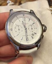 $8000 Jaeger LeCoultre Master Compressor Chronograph White Watch 2 Extra Bands