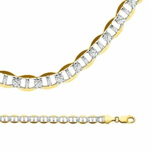 4facbe6ed5449 14K Solid Two Tone Gold Italy Men/Women Gucci Flat Mariner Chain ...