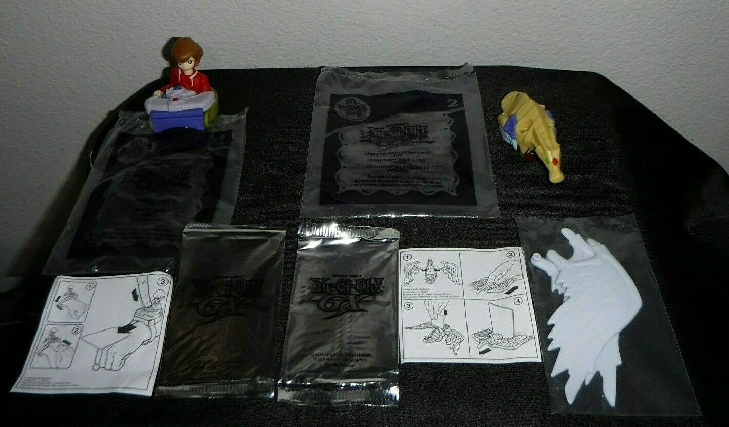 Yugioh GX  McDonald's Complete 8 Toys Set with 17 Cards  MDP2