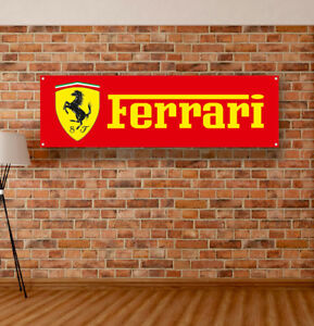 Ferrari Vinyl Banner Sign Garage Workshop Flag Poster Logo Emblem Ebay