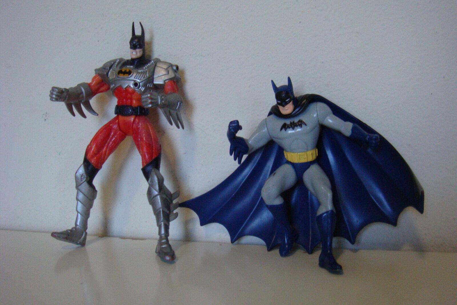 LOT OF 2 VINTAGE BATMAN @1998 DC COMICS FIGURES 6-1 4 INCH & 5-1 4 INCH TALL
