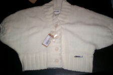 NWT! $129 DIESEL KIVIVA CROPPED SWEATER, WHITE WOMENS XL X-LARGE