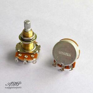 2x-Potentiometres-500Kaudio-Reverse-XLong3-4-034-SplitShaft-Pot-Les-Paul-WD-Lefty