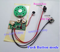 30s Button/Light Sense Recordable Voice Module Music Box Sound Chip Record Gift