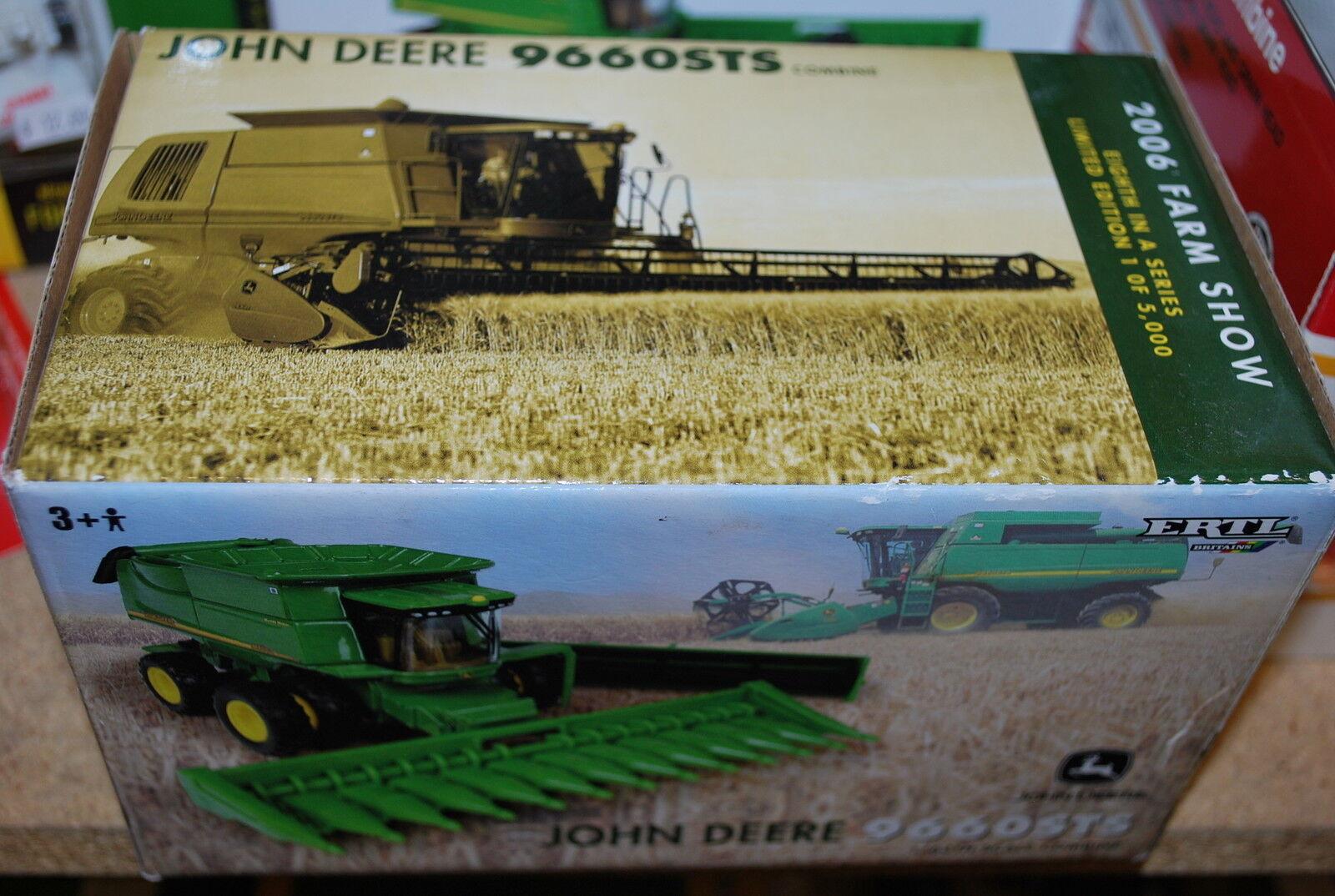 1 64 John Deere 9660 Sts Combinez W Tracteur & les Deux D'Etats par Ertl, 2006