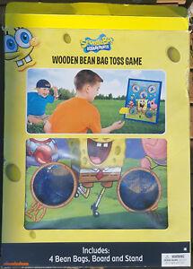 Spongebob Squarepants Vintage Wooden Bean Bag Toss Game From 2013