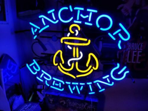 """New Anchor Brewing Real glass Neon Sign Beer Bar Pub Gift Light 24/""""x20/"""""""