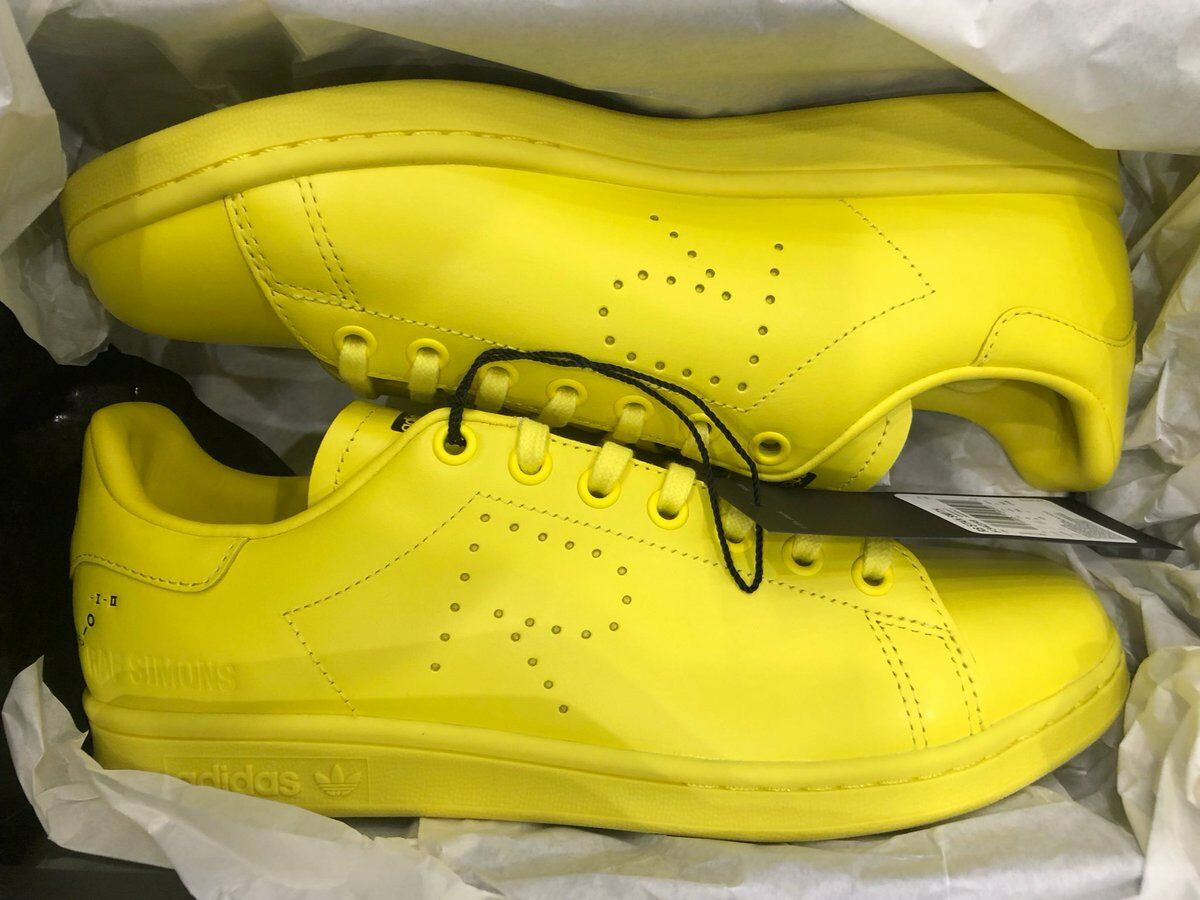 Adidas Stan Smith x Raf Simons Bright Yellow F34259 Size 5-12 BRAND NEW IN HAND