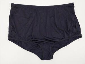 Vintage Vanity Fair Semi Sheer Black Nylon Granny Briefs Panty Panties 12 5X 5XL