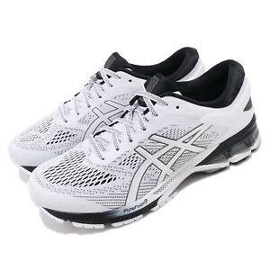 Asics-Gel-Kayano-26-White-Black-Men-Running-Shoes-Sneakers-Trainers-1011A541-101