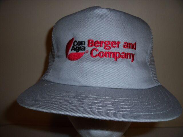 CON AGRA BERGER MESH SNAPBACK Baseball Cap Trucker Hat Retro Rare Unique Lid Z