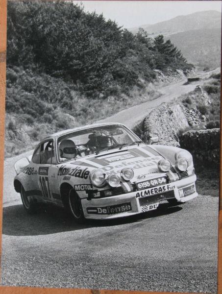 413 . 1 X Photo . Porsche . Tour Auto . Format : 18 X 24 Cm . Tres Bel Etat . Grade Producten Volgens Kwaliteit
