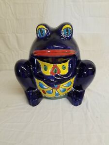 Image Is Loading 14 034 Talavera Frog Planter Pot Hand Painted