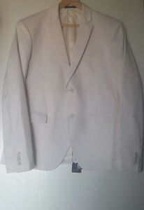 poliammide White e in Klein cotone Cream Giacca Slim Value Fr54 299eur Fit Calvin wAq0fzn
