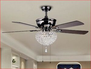 ceiling fan with lights 52 inch for master bedroom with chandelier crystals glam ebay