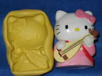 Hello Kitty Push Mold Food Safe Silicone 743 Chocolate Cake Topper Resin Soap