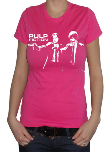 fm10 t-shirt donna PULP FICTION 1 Travolta Tarantino CINEMA/&TV