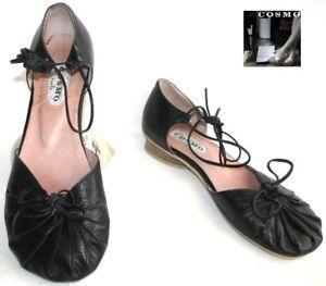 noir tout cuir style Ballerine Chaussures EXCELLENT 36 COSMO XTPuOkZi
