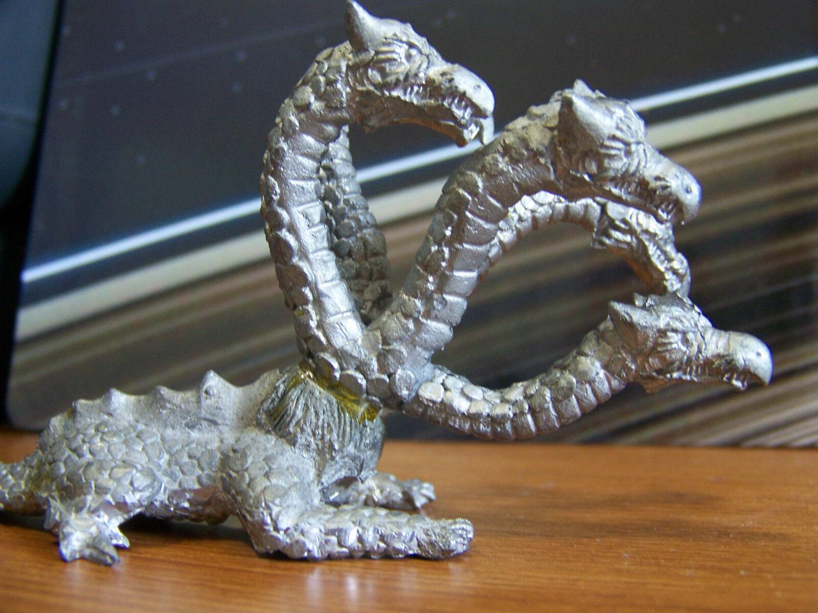 Vintage Rara Dungeons & Dragons Hydra 5 Cabezas Dragon Metal en miniatura D&D Mini