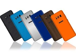 Texture-pelle-autoadesivo-per-Samsung-Galaxy-S8-CARBONIO-WOOD-Matt-Gloss