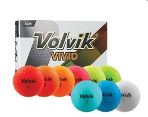 VOLVIK-VIVID-MATTE-FINISH-GOLF-BALLS-1-DOZEN-2018-CHOOSE-COLOR