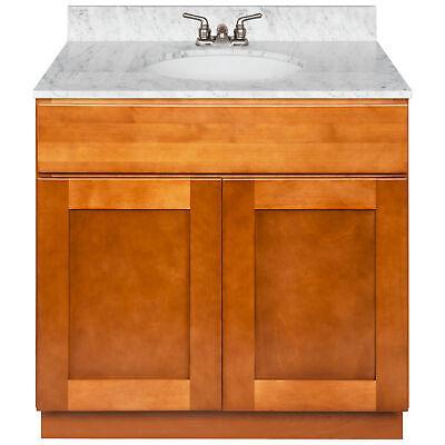 Vanity Cabinet 36 Newport, White Granite Cara, LB3B Top | eBay