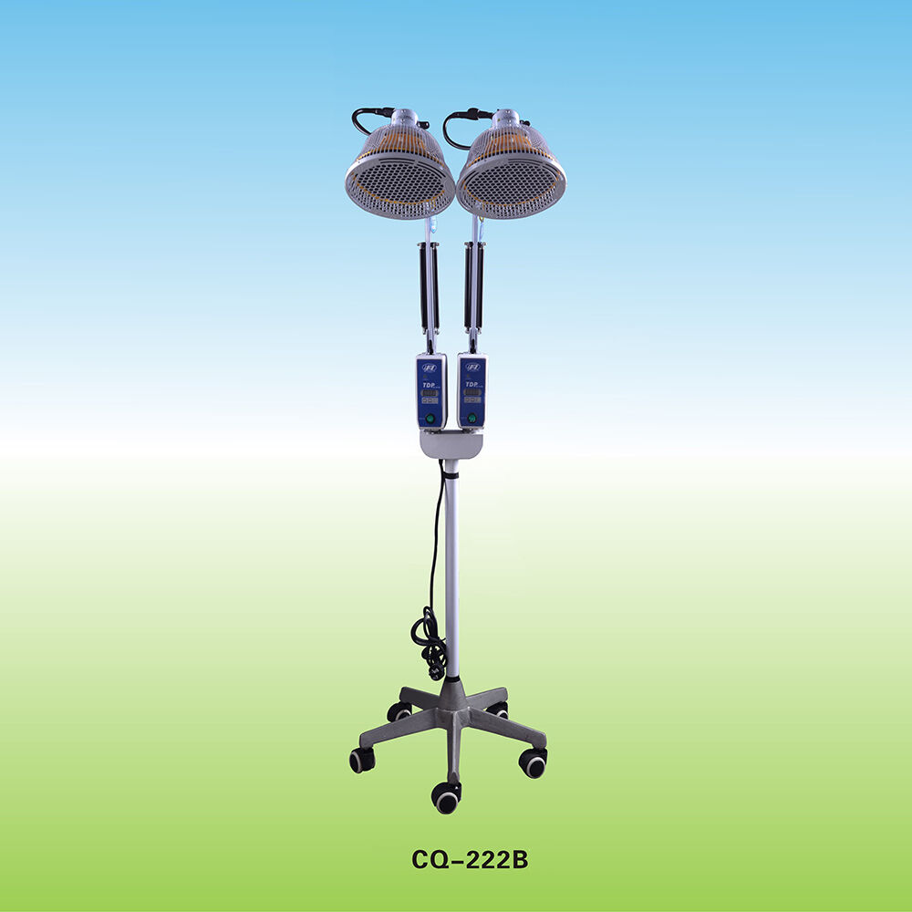 New Tdp Lamp Floor Standing Infrared Heat Mineral Therapy Two Head 2x250w Ebay