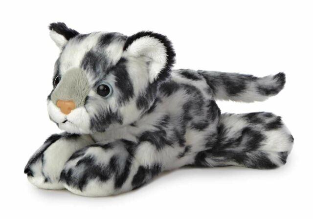 Aurora Mini Flopsies - Leopardo Delle Nevi Giocattolo Morbido 20cm