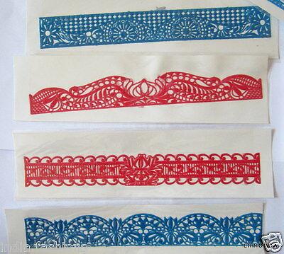 24 card ARM  leg HENNA  long RUBBER STENCIL gypsy BODY ART Mehndi tattoo LOT