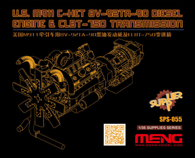 1/35 US M911 C-HET 8V-92TA-90 Diesel Engine & CLBT-750 Transmission for #SS-013