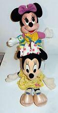 "Lot of 2 Vintage 1990s Disney Minnie Mouse Plush Toys 18"" & 15"" Inch Dolls"