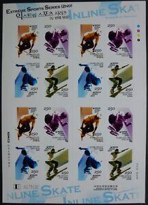 Korea-Sued-2007-Extremsport-Inlineskaten-Sport-II-2599-2602-Kleinbogen-MNH