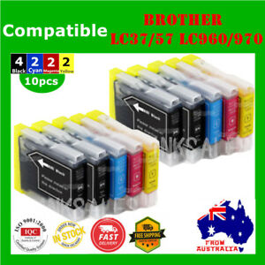10x-Ink-Cartridges-LC960-LC970-LC37-LC57-For-Brother-DCP-130C-135C-150C-MFC-440