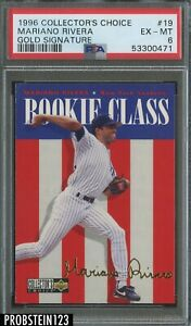 1996 Collector's Choice Gold Signature #19 Mariano Rivera Yankees PSA 6 EX-MT