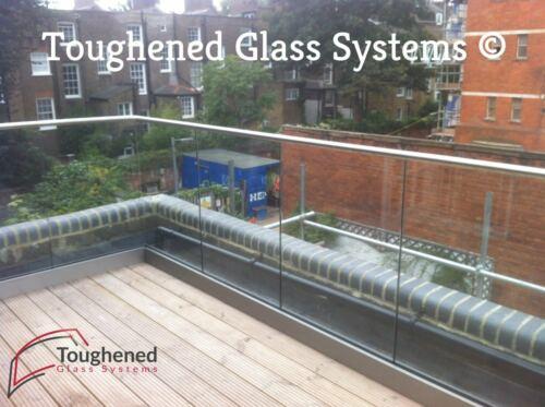 TGS Balcony Railings Frameless Base Channel Glass Balustrade System