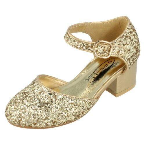 £17.99 Retail Price Girls H3065 Glitter Court Shoe by Spot On