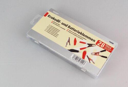 cocodrilos de tifler Batería-y pinza cocodrilo 28-piezas en el set bornes /&