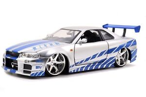 Brian's Nissan Skyline GT-R (R34) Fast and Furious 1/24 7 Diecast ...