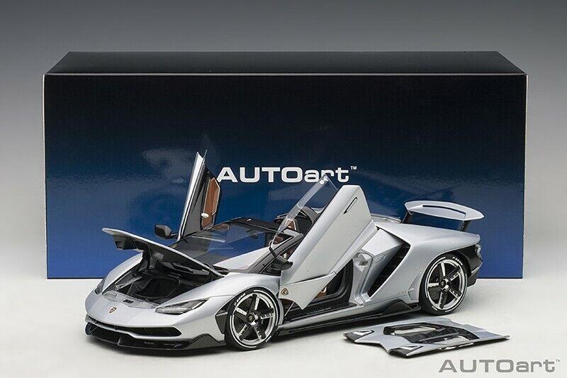 Autoart Lamborghini Centenario Roadster argentoo Centenario Opaco Met. argentoo