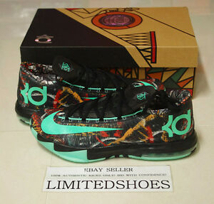 NIKE KD VI 6 AS ALL STAR 647781-930 Illusion gumbo nola glow aunt pearl ix usa