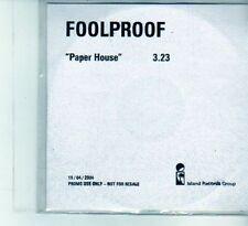 (DU560) Foolproof, Paper House - 2004 DJ CD