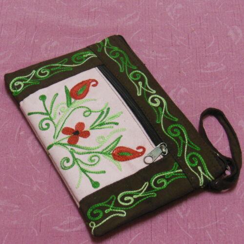 Hand Embroidered Kashmiri Style Multi-Purpose Mobile Bag Jewellery Purse Wallet
