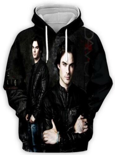 The Vampire Diaries 3D Print Women//Men/'s Hoodies Sweatshirt+Pants Sport Suit