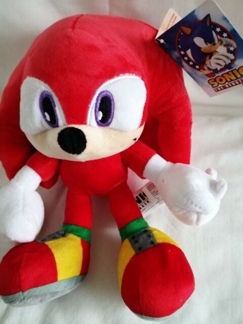 """KNUCKLES from SONIC THE HEDGEHOG Official 12"""" Sonic Plush Toy Teddy Brand New"""