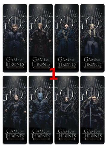 Game of Thrones 8pcs//set signets alicization PVC livre Marker Papeterie