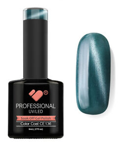 CE136-VB-Line-Cat-Eye-Green-Metallic-UV-LED-nail-gel-polish-super-quality